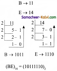 TN State Board 11th Computer Science Important Questions Chapter 2 Number Systems Part 1 36